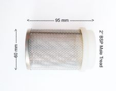 Stainless Steel Strainer / Filter with Nylon BSP Male Thread. 1000 Micron Mesh